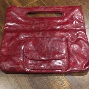Handbags - Red Faux leather clutch